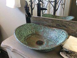 Egypt gift shops Oxidized Copper Vanity Bathroom Sink Toilet Oval Bathtub Design Shape Lavatory  ...