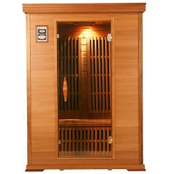 Rocky Mountain Saunas Colorado Hemlock 1-2 Person Far Infrared Home Sauna with 8 Zero Rated EMF  ...