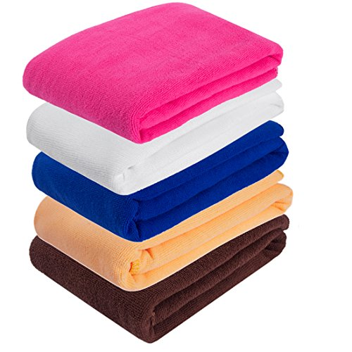 Bamboo Sauna Towels: DODOING Microfiber Bath Towels Set(2 Pack), Quick Dry Bath
