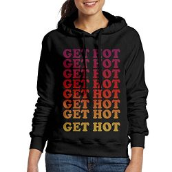 Rongyingst Women Hooded Sweatshirt Get Hot Pullover Cotton/Polyester Hoodies Long Sleeve Drawstr ...