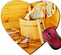 Liili Mousepad Heart Shaped Mouse Pads/Mat ID: 22259187 Still life with sauna accessories Indoor