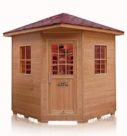 Ceramic FIR Far Infrared 4 Four Person Outdoor Sauna SPA