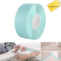 Bathtub Caulk Strip PE Self Adhesive Kitchen and Bathroom Wall Sealing Tape Caulk Sealer(1-1/2& ...