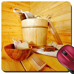 Liili Suqare Mousepad 8×8 Inch Mouse Pads/Mat IMAGE ID: 18108544 Still life with sauna acce ...