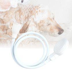 Pevor Pet Dog Cat Shower Head Spray – White Portable Pet Shower Bath Handheld Showerhead H ...