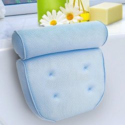 Kleeger Hot Tub Bath Pillow: Home Spa Jacuzzi Neck & Back Support, Soft Non-Slip Cushion Wit ...