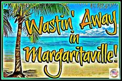 Tiki Bar Margaritaville Sign 8″x12″ Made In Hawaii USA All Weather Metal. Lounge Wel ...