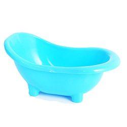 FUNNY365 Bathtub Design Pet Sauna Bath Gerbil Mice Hamster Bathroom Case (Blue)
