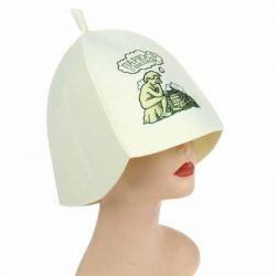 Sauna Hat / Russian Finnish Bath Bathhouse Steam Room Banya / Head Protection from Overheating / ...