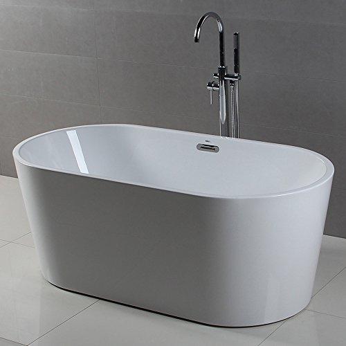 FerdY Freestanding Bathtub, Soaking Bath Tub, Stand Alone