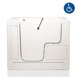 American Tubs LOVE3252W 32″ x 52″ Air & Hydro Massage Wheelchair Accessible Soak ...