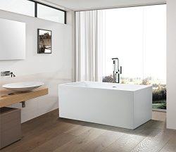 Vanity Art Bath Free Standing Acrylic Bathtub Dimension: 66.5″Wx31.5″Dx23″H VA ...