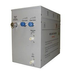 Superior 12kW Self-Draining Steam Bath Generator with Waterproof Programmable Controls and 2 Chr ...