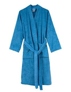 TowelSelections Men's Robe, Turkish Cotton Terry Kimono Bathrobe X-Large/XX-Large Heritage Blue