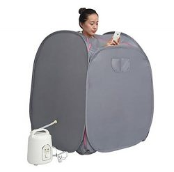 D&F Portable Sauna Therapeutic Steam Personal Spa Home Airbrush Spray Tan Kit With Tent 10682Cm