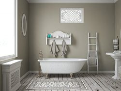 61″ Cast Iron Clawfoot Rolled Rim Bathtub with 7″ Faucet Hole Drillings & Brushe ...