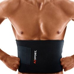 AZSPORT Waist Trimmer – Adjustable Ab Sauna Belt to shed the excess Water, weight and tone ...