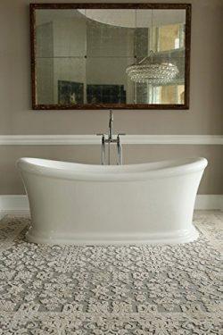 Signature Bath LPISER-FS Serene Freestanding Bathtub, 67″ x 28.5.5″ x 30″, White