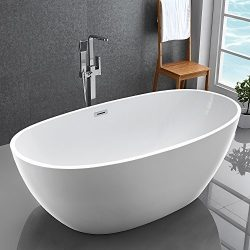 Kiva CUPC Certification Oval Acrylic Freestanding Bathtub Acrylic Hot Tub Offset Corner bathtub ...