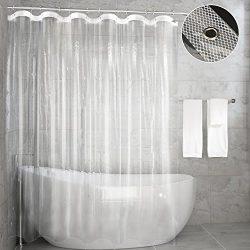 Shower Curtain Liner,Feagar Mold&Mildew Resistant Waterproof Anti-bacterial 72×72 Inch  ...