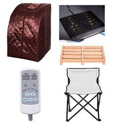 Spa Day XXLarge ION Infrared IR FAR Portable Indoor Personal SPA Sauna (Brown)