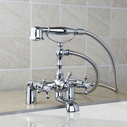 Yanksmart® diverter bathroom bathtub faucets handheld showerheads Two mounting holes two handles ...
