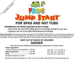 8) Spa Frog 01-14-6012 Hot Tub Mineral Jump Start Shock Chlorine Packets (Eight)