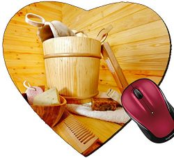 Liili Mousepad Heart Shaped Mouse Pads/Mat IMAGE ID: 18108544 Still life with sauna accessories  ...