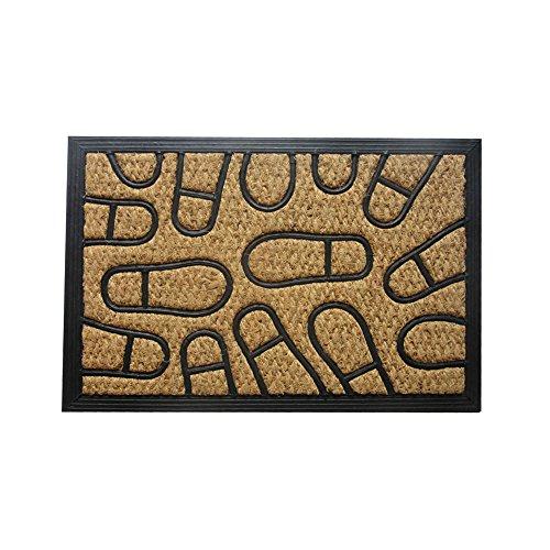 Amber Home Goods Footprint Floor Mat Front Door Mat Large