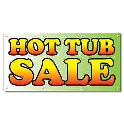 Hot Tub Sale Business 13 Oz Vinyl Banner Sign With Grommets 3 Ft X 6 Ft