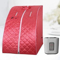 MD Group Portable Steam Sauna Tent 2L Red Household Weight Loss Therapy Full Body Detox Massage