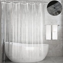 Shower Curtain Liner,Feagar Mold&Mildew Resistant Waterproof Anti-bacterial 72×72 Inch  ...