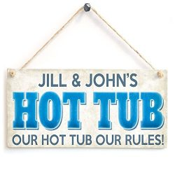 Hot Tub Wood Sign By meijiafei