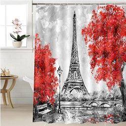 Gzhihine Shower curtain oil painting paris european city landscape france wallpaper eiffel tower ...