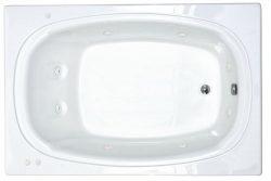 Atlantis Whirlpools 4872cwr Charleston Rectangular Whirlpool Bathtub, 48 X 72, Right Drain , White