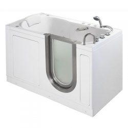 55″ x 30″ Deluxe Massage Whirlpool Walk In Tub Door and Drain Location: Left