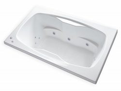Carver Tubs – AR6042 Rectangle Drop In – 12 Jet, Self Draining Whirlpool Bathtub wit ...