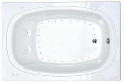 Atlantis Whirlpools 4878cdl Charleston Rectangular Air & Whirlpool Bathtub 48 X 78 Ctr Drain Wh