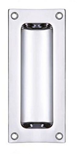 Zoo Hardware FB90 Rectangular Recessed Flush Door Pull Handle 102 x 45mm (Polished Chrome) by Zo ...