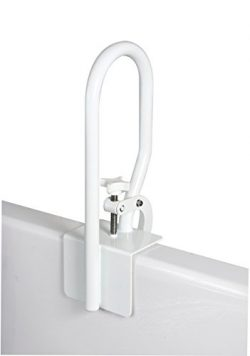 Carex White Bathtub Rail, Secure Bathtub Rail for Assistance Getting in and out of Tub, Easy to  ...