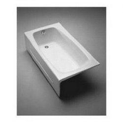 Toto FBY1525LPNo.01 Enameled Cast Iron Bathtub 59-3/4-Inch by 32-Inch by 16-3/4-Inch, Cotton