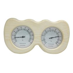 Double Wooden Sauna Hygrothermograph Thermometer Hygrometer Sauna Room Accessory