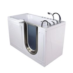 Ultimate 30″ x 60″ Acrylic Walk-In Bath Tub with Hydro, Air and Independent Foot Mas ...