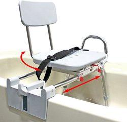 Tub-Mount Swivel Sliding Bath Transfer Bench (77762) – Regular – Heavy-Duty Shower B ...