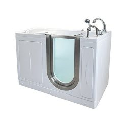 Royal MicroBubble Walk-In Bathtub, Right Drain, with Roman Fast-Fill Faucet & Heated Seat &a ...