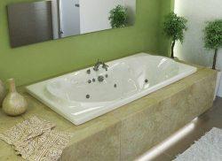 Atlantis Whirlpools 4272wwl Whisper Rectangular Whirlpool Bathtub, 42 X 72, Center Drain, White
