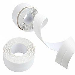 MAXGOODS 2 Pack PE Kitchen Caulk Strip,Self Adhesive Mildew Resistant Waterproof Sealing Tape fo ...