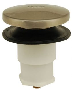 Bathtub Drain Plug Drain Stopper, Tip-Toe Bath Plunger (5/16 Inch, Satin Nickel)