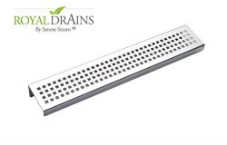 Royal Stainless Steel Shelf Rectangular by Serene Steam (Traditional Square) Wall Mount Shower s ...