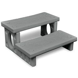Chloe Rossetti Gray Spa Steps Size: 27.6″ x 25.6″ x 13.4″ (L x W x H) Reversib ...